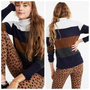 Madewell Striped Sweater in Coziest Yarn